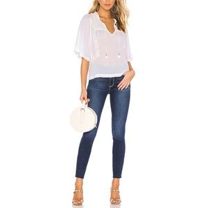 Paige • Hoxton Ankle High Rise Skinny Jeans.